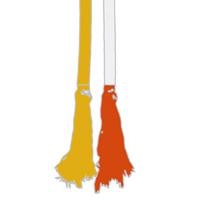 07 amarela ponta laranja