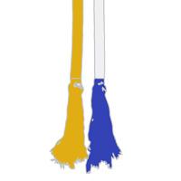 08 amarela ponta azul